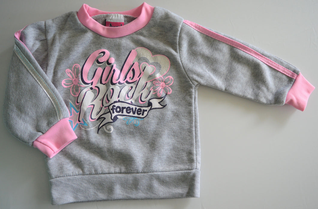 Angel Face Grey Girls Rock Forever Sweat Shirt
