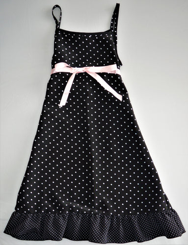 Black with White Polka Dot Dress