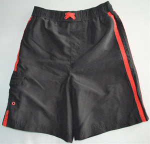 George Black with Red Stripes Swim Shorts