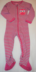 Tuffy Pink and Grey Stripes with Owl Sleeper