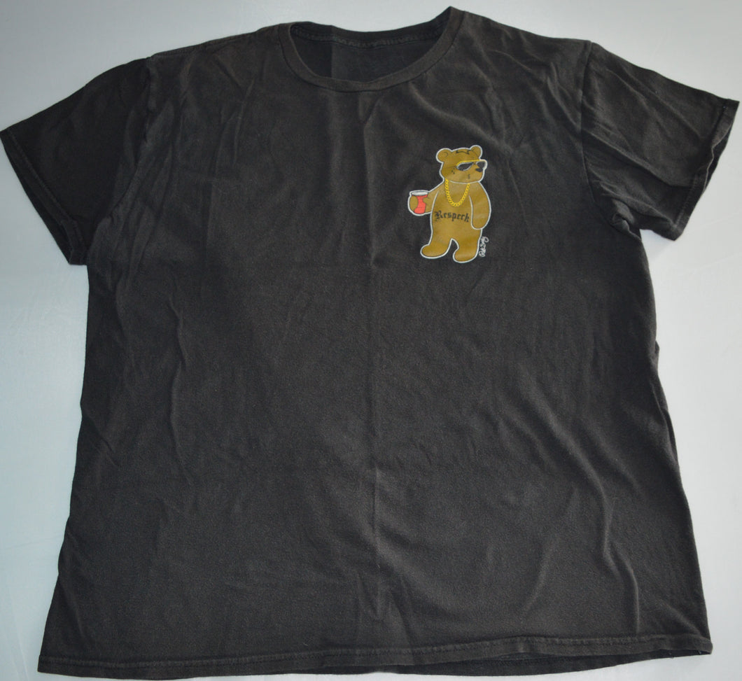 Riot Society Black with Respeck Bear T-shirt