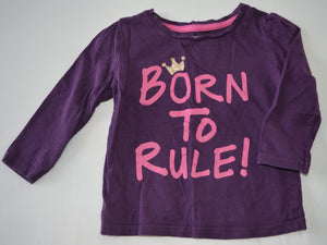 George Purple and Pink Born to Rule! Long-sleeve Shirt