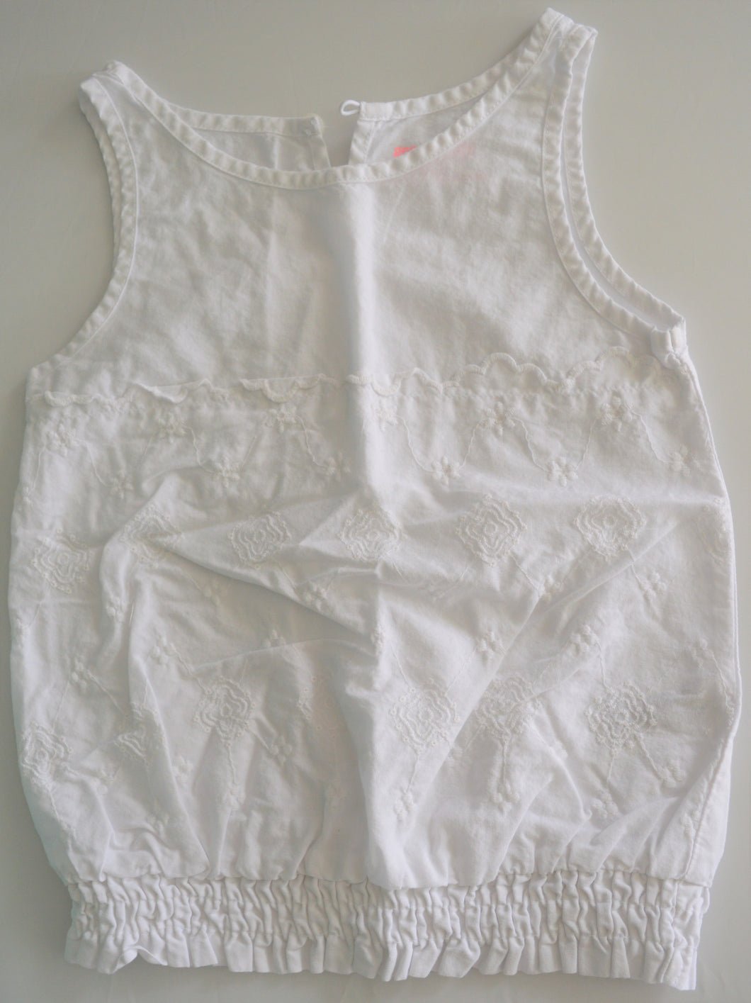Genuine Kids White Embroidered Tank Top