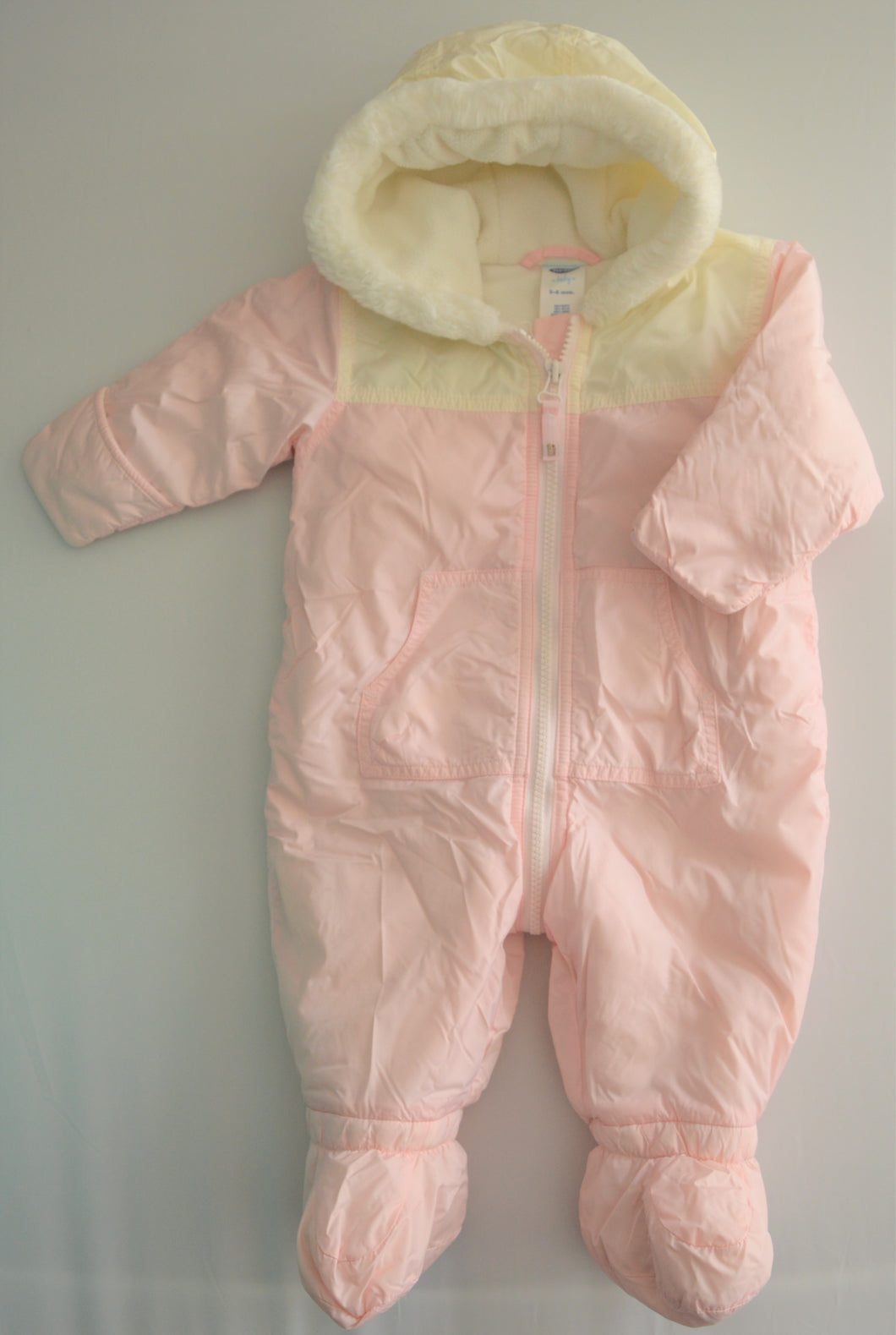 Old Navy Pink and White Snow Suit