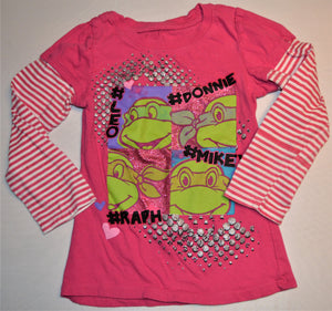 Nickelodeon Pink Teenage Mutant Ninja Turtle Long-sleeve Shirt