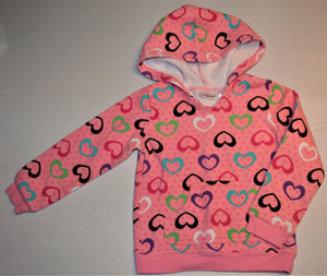 Jumping Beans Pink with Colourful Hearts Hoodie