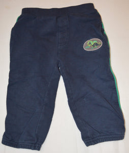 Bob Der Bar Blue with Green Racing Stripes Baby Dino Sweat Pants
