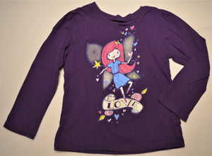 The Children's Place Purple Love Fairy Long-sleeve Shirt
