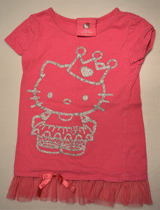 Hello Kitty Pink Sparkly Silver Princess Kitty