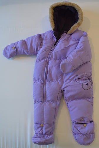Carter's Purple with Butterfly Snowsuit