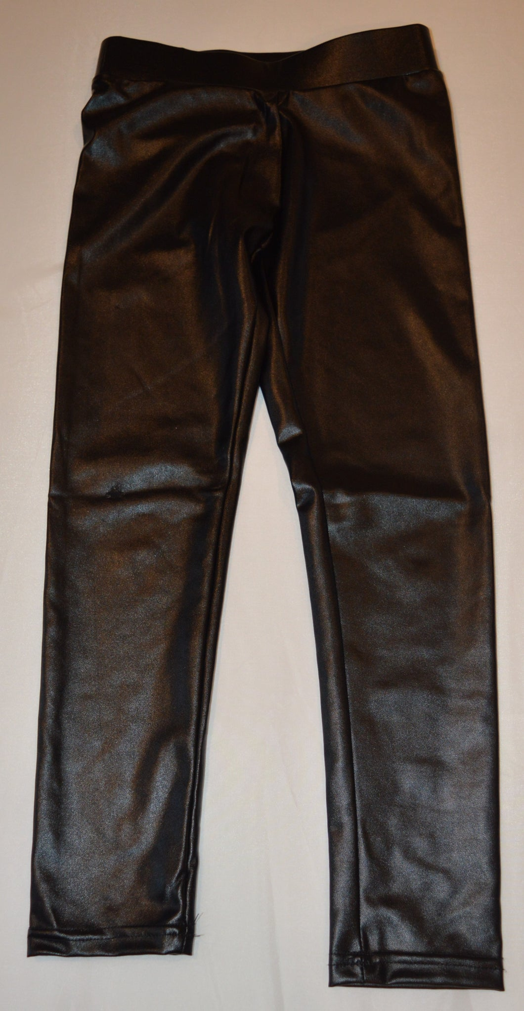 George Black Pleather Leggings