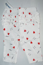 Load image into Gallery viewer, NWT Old Navy White with Cats and Hearts Leggings