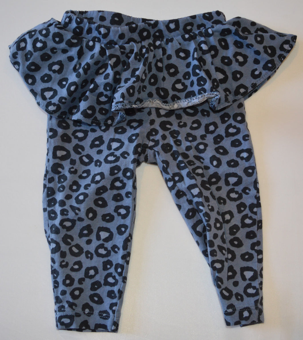 Carter's Blue Leopard Print Leggings with Skirt