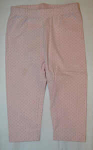 Baby Gap Pink with Sparkly Gold Polka Dots Leggings
