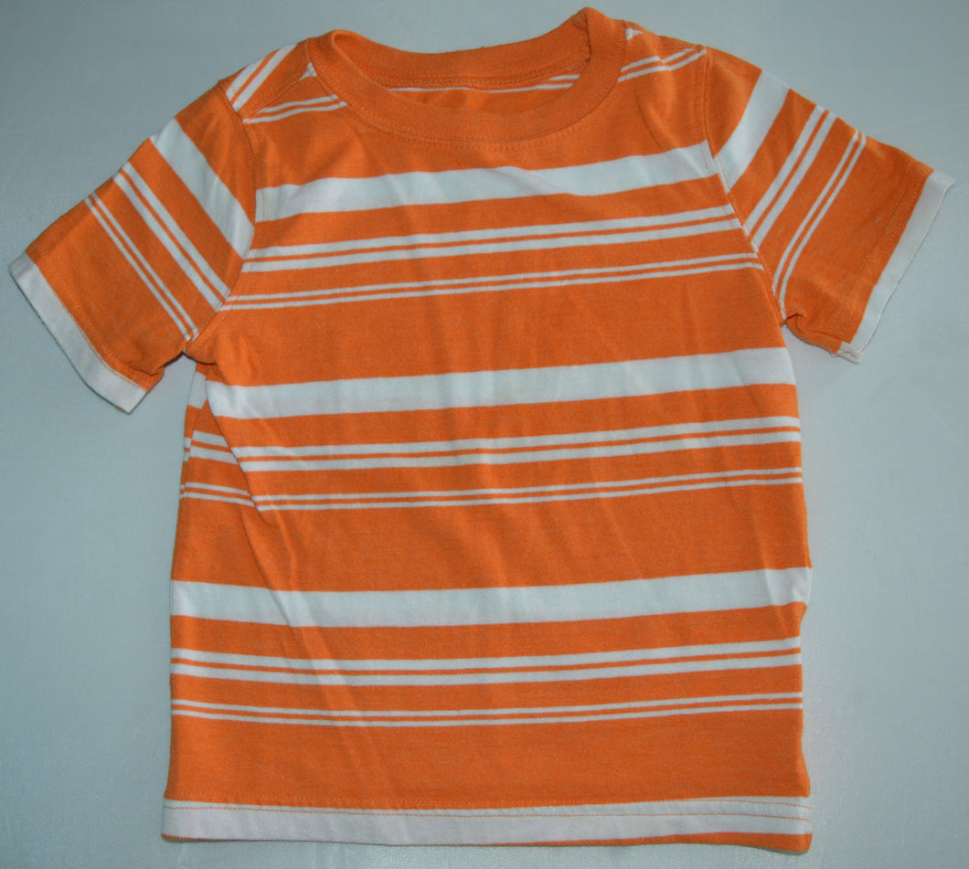 Old Navy Orange with White Stripes T-shirt