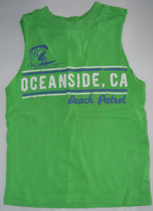 The Children's Place Green Fanside Beach Patrol Tank Top
