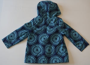 Old Navy Blue with Light Blue Mandala Lightly-Lined Hooded Jacket