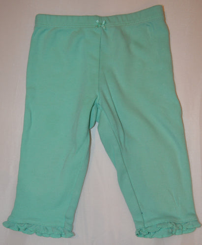 Carter's Teal Pants with Ruffle Cuffs