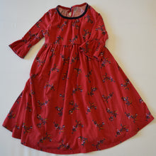 Load image into Gallery viewer, Old Navy Red with Flowers Long-Sleeve Dress
