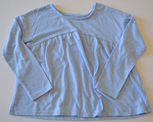 Joe Fresh Blue with Silver Sparkles Long-Sleeve Shrit