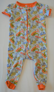 The Children's Place Blue and Orange Surf Dudes Jungle Animals Sleeper