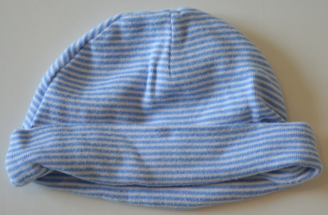 Carter's Blue and White Striped Hat