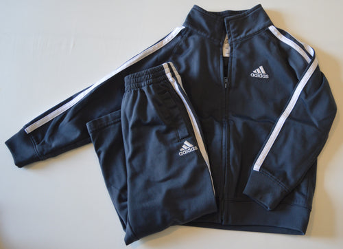 Adidas Grey and White Track Suit