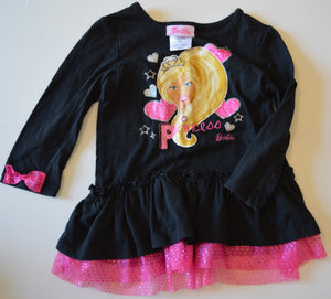 Barbie Black Long-Sleeve Shirt with Blonde Princess Barbie