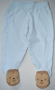 Carter's Blue Pants with Monkey Feet