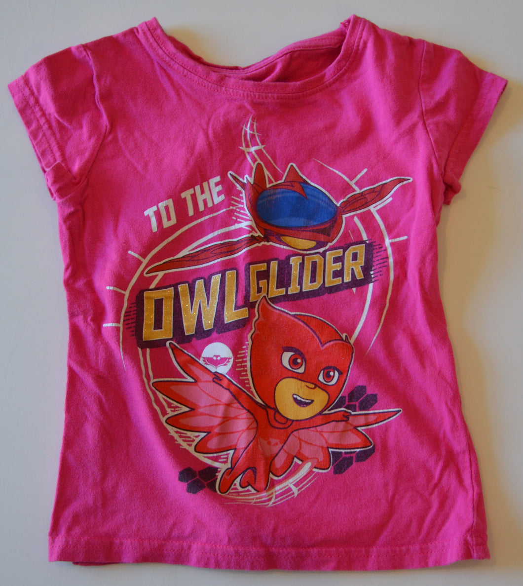PJ Masks Pink To the Owl Glider T-Shirt