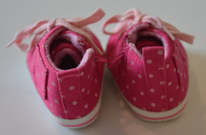 Pink with Light Pink Polka Dots Shoes