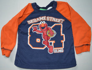 Sesame Street Blue and Orange 84 Football Elmo Long-sleeve Shirt