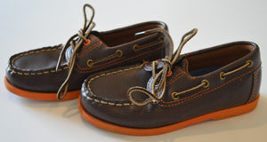 Brown and Orange Loafers