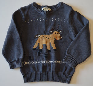 Osh Kosh Grey with Deer Knit Sweater