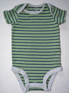 Carter's Green and Blue Striped Onesie