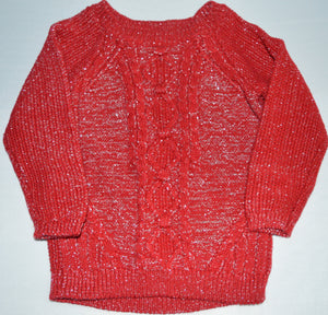 George Red and Silver Knit Sweater