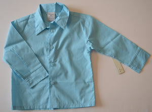 NWT Perry Ellis Portfolio Blue Button-Up Long-Sleeve Shirt