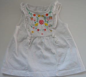Carter's White with Flowers Tank Top