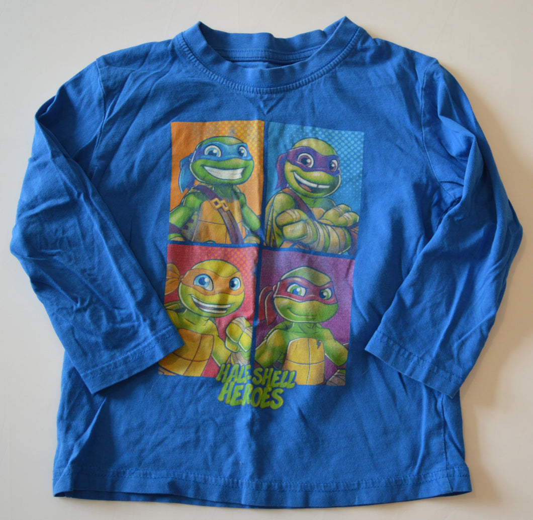 Nickelodeon Blue TMNT Half Shell Heroes Long-Sleeve Shirt