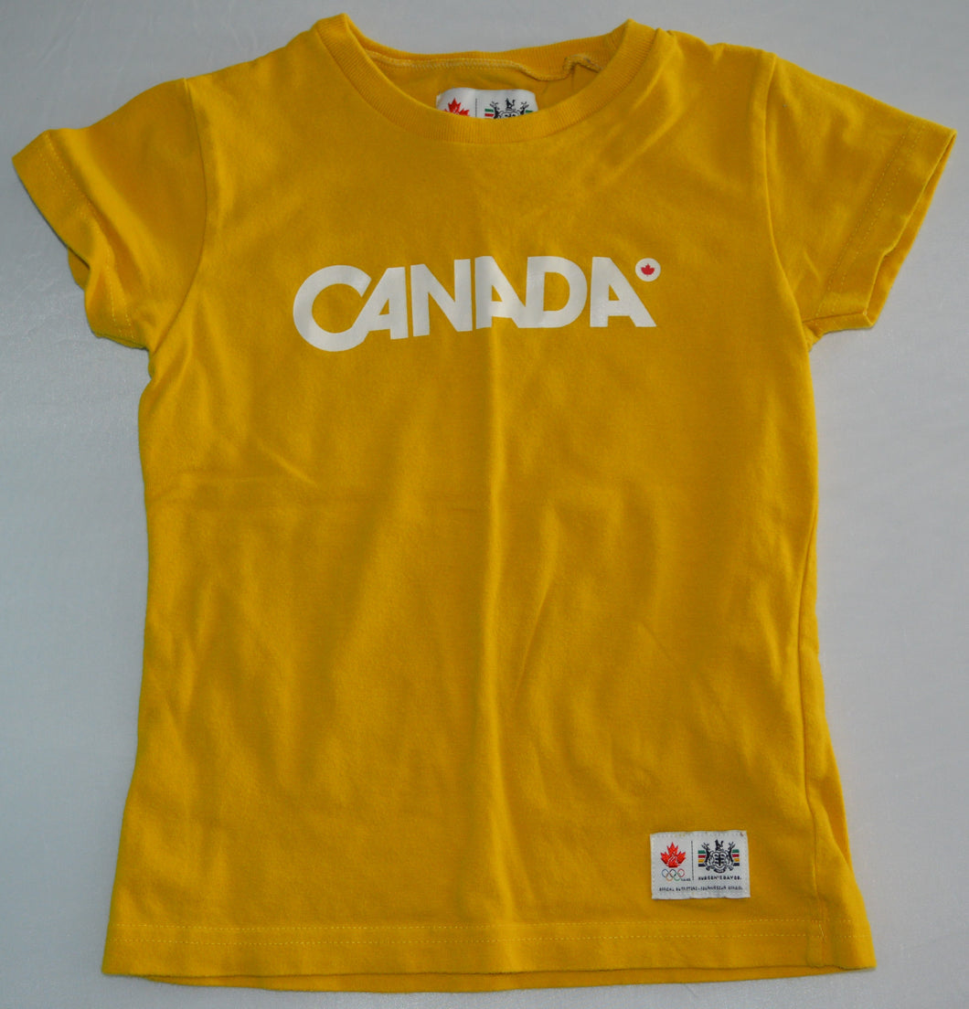 Hudson's Bay Co. Mustard Canada Olympic T-shirt