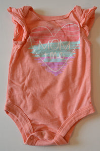 George Pink Mom& Me Heart Onesie