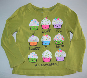 The Children's Place Olive I Love You Almost as Much as Cupcakes! Long-sleeve Shirt