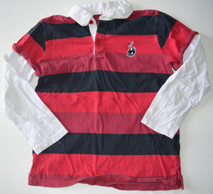 Please Mum Black and Red Striped with White Long-Sleeve Shirt