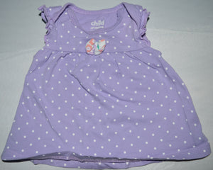 Carter's Purple with White Polka Dots Tank Top