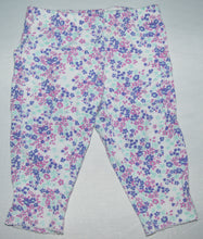 Load image into Gallery viewer, Carter's White with Pink Purple and Blue Flower Leggings