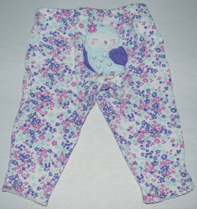 Carter's White with Pink Purple and Blue Flower Leggings