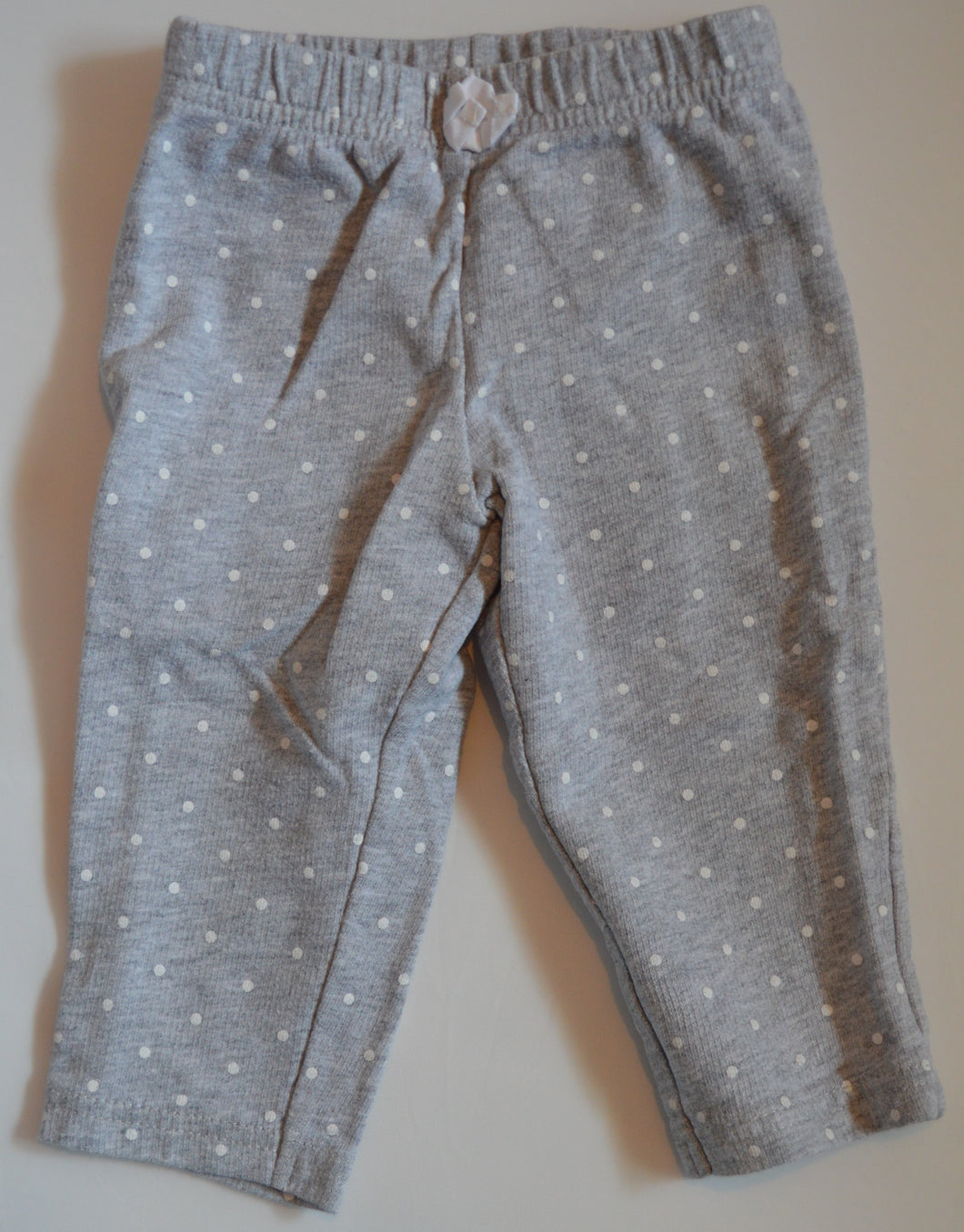 Carter's Grey with White Polka Dots Pants