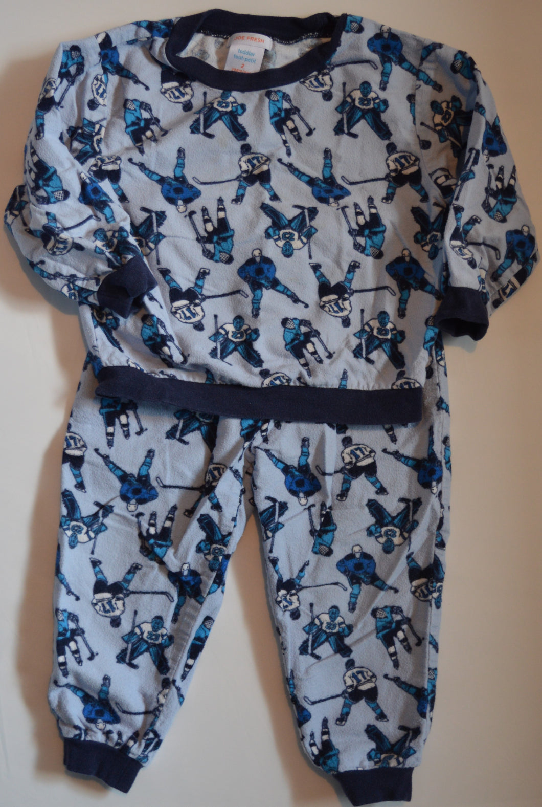 Joe Fresh Blue Hockey Two-piece Pajamas