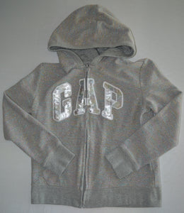 Gap Kids Grey with Colourful Sparkles Zip-up Hoodie