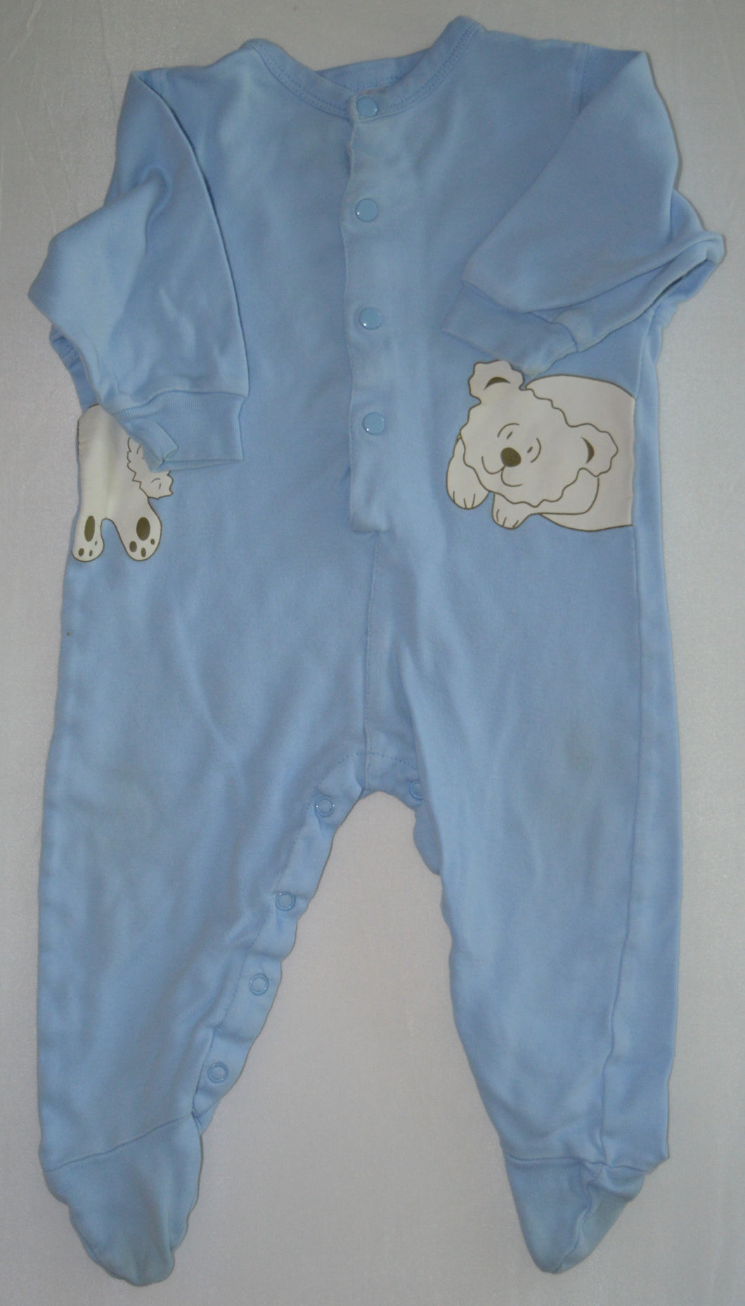 Blue with White Bear Sleeper
